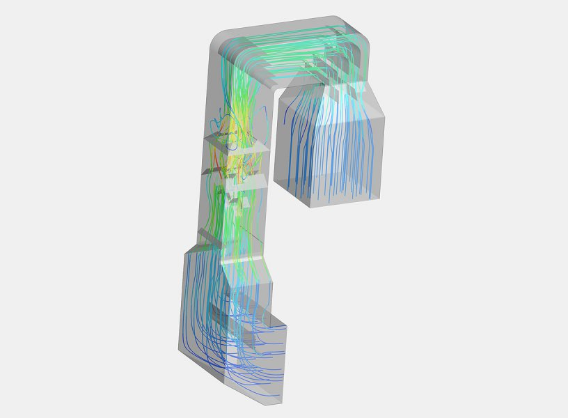 CFD simulation of a flue gas duct