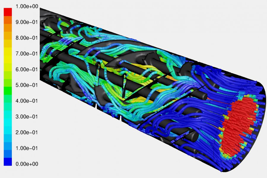 CFD simulation CSE-XR mixer heat exchanger